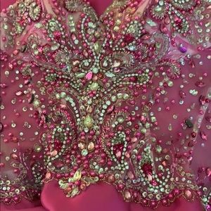 Mori Lee Dresses - Fuchsia mermaid prom pageant gown hot pink